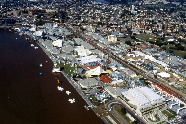 Aerial Photo of the Expo '88 Site