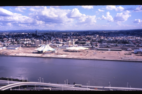 Brisbane Expo '88 Site under construction